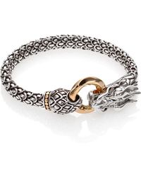 John Hardy - Naga 18k Yellow Gold & Sterling Silver Dragon Bracelet - Lyst