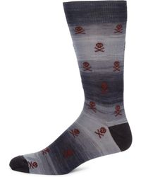 Saks Fifth Avenue - Skull Space Socks - Lyst