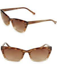 Colors In Optics Brickell 55mm Small Cat Eye Sunglasses - Brown