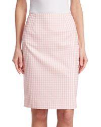 Nanette Lepore - Posh Gingham Plaid Skirt - Lyst