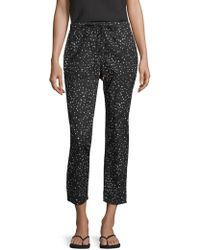 Eileen Fisher - Dot Print Tapered Pant - Lyst