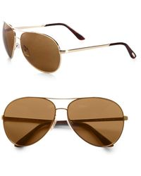 Tom Ford - Charles Polarized Aviator Sunglasses - Lyst