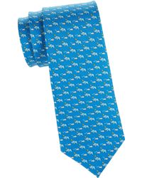 a68015b0a5bc Thomas Pink Somersault Elephant Print Classic Tie in Blue for Men - Lyst