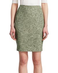 Akris Punto - Tweed Pencil Skirt - Lyst