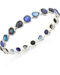 Ippolita | Rock Candy® Eclipse Mixed Stone & Sterling Silver Bangle Bracelet | Lyst