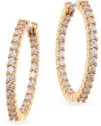 Roberto Coin - 18k Yellow Gold 1.53 Tcw Diamond Hoops - Lyst