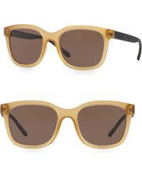 Burberry - 54mm Lite Brown Wayfarers Sunglasses - Lyst