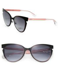 Fendi - 52mm Notched Cat Eye Metal Sunglasses - Lyst