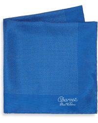 Charvet - Small Pattern Silk Pocket Square - Lyst