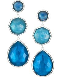 Ippolita - Wonderland Sterling Silver & Clear Quartz Over Mother-of-pearl Crazy 8's Drop Earrings - Lyst