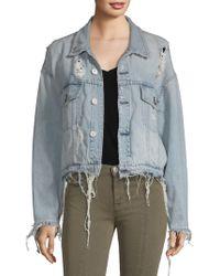 Hudson Jeans - Distressed Denim Jacket - Lyst
