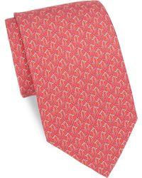 Ferragamo - Paperclip Penguins Silk Tie - Lyst