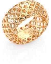 Gucci - Diamantissima 18k Yellow Gold Band Ring - Lyst