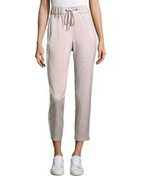 Peserico - Side Striped Jersey Jogger Pants - Lyst