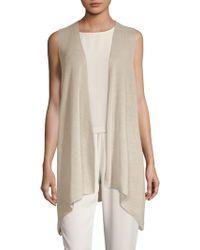 Eileen Fisher - Asymmetrical Open Vest - Lyst