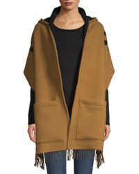Burberry - Women's Helen Textured Wool & Cashmere Wrap Shawl - Hazelnut - Lyst