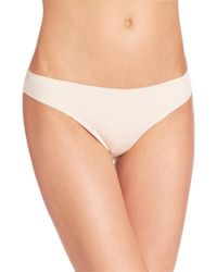 Hanro - Invisible Cotton Thong - Lyst
