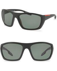 Prada - Linea Rossa 61mm Wrap Sunglasses - Lyst