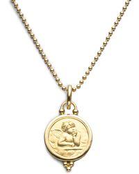 Temple St. Clair - Angel 18k Yellow Gold Medium Pendant - Lyst