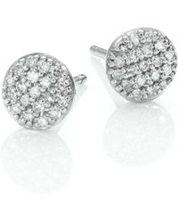 Phillips House | Affair Micro Infinity Diamond & 14k White Gold Stud Earrings | Lyst