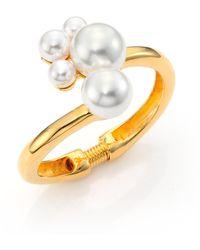 Kenneth Jay Lane - Faux Pearl Cluster Hinge Bracelet - Lyst