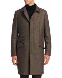 Saks Fifth Avenue - Single Breasted Wool Topcoat - Lyst