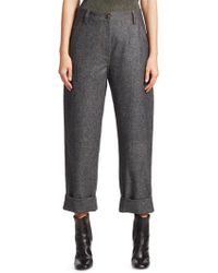 Brunello Cucinelli - Relaxed Flannel Wool Jeans - Lyst