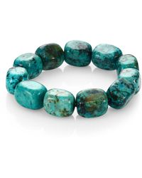 Nest | Teal Agate Square Beaded Stretch Bracelet | Lyst