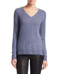 Saks Fifth Avenue - Collection Featherweight Cashmere V-neck Sweater - Lyst