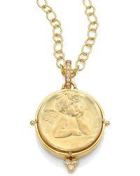 Temple St. Clair | Angel Rock Quartz Crystal, Diamond & 18k Yellow Gold Locket | Lyst