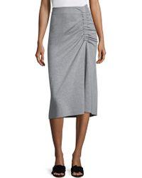 Tibi - Slim Shirred Skirt - Lyst