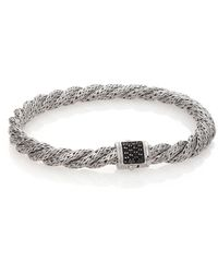 John Hardy - Classic Chain Black Sapphire & Sterling Silver Extra-small Twisted Bracelet - Lyst