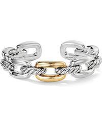 David Yurman - Wellesley Sterling Silver & Gold Link Bracelet - Lyst