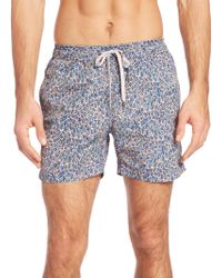 "Onia - Charles 5"" Liberty Of London Print Swim Trunks - Lyst"