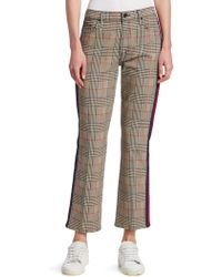 Mother - Insider Plaid Ankle Pants - Lyst