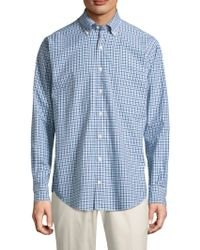 Peter Millar - Crown Plaid Cotton Button-down Shirt - Lyst