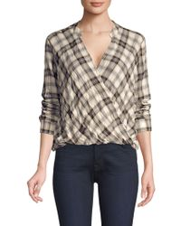 Splendid - Willow Voile Plaid Blouse - Lyst