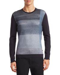 Emporio Armani - Colorblock Wool Sweater - Lyst