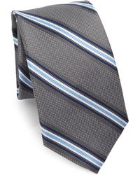 Saks Fifth Avenue | Collection Dotted Striped Silk Tie | Lyst