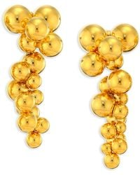 Marina B - 18k Yellow Gold Atomo Grape Drop Earrings - Lyst