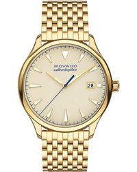Movado - Heritage Yellow Gold Ion-plated Stainless Steel Bracelet Watch - Lyst