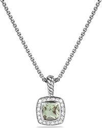 David Yurman - Petite Albion Pendant With Prasiolite And Diamonds On Chain - Lyst