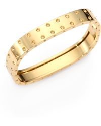 Roberto Coin - Pois Moi 18k Yellow Gold Two-row Bangle Bracelet - Lyst