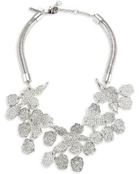 Lele Sadoughi - Paved Abstract Plate Necklace - Lyst