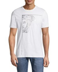 Versace - Metallic Cotton Tee - Lyst