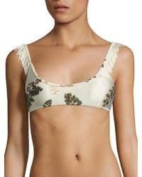Made By Dawn - Glimmer Petal Fringed Bikini Top - Lyst