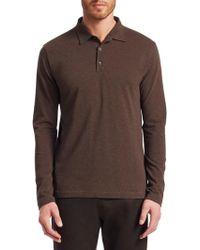 Isaia - Long Sleeve Polo Shirt - Lyst