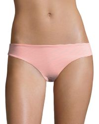 Onia - Lily Striped Seersucker Bikini Bottom - Lyst