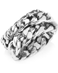 Emanuele Bicocchi - Sterling Silver Multi-chain Ring - Lyst