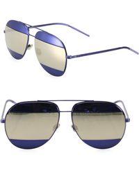 2c5d0403c730 Dior - Split1 59mm Metal Aviator Sunglasses - Lyst